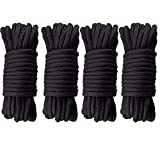 G2PLUS 40M Black Soft Cotton Rope 8 MM Thick Rope Cord Cotton Twisted Cord