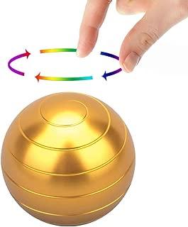 ShowDoo Kinetic Desk Toy , Full Body Optical Illusion Fidget Spinner Ball (Gold)