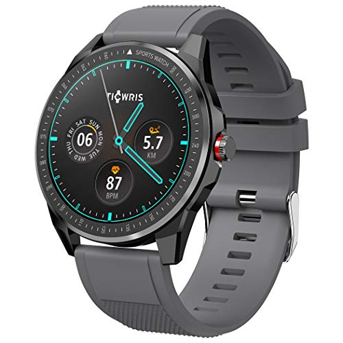 """TICWRIS RS Smart Watch for Android iOS, Ultra Thin 9mm Fitness Tracker Watch with 1.3"""" Full Touch Screen,IP68 Waterproof Sports Watch with 50 Days Battery Life, Heart Rate/Sleep Monitor for Men Women"""