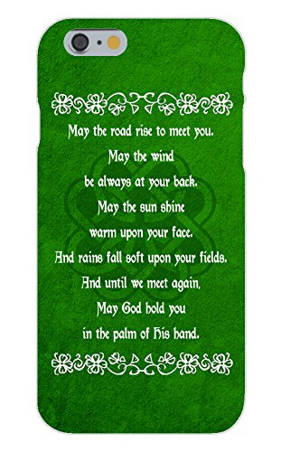 iPhone 7 Plus Case - Irish Blessing Prayer May The Road Rise Up Green Celtic Knot