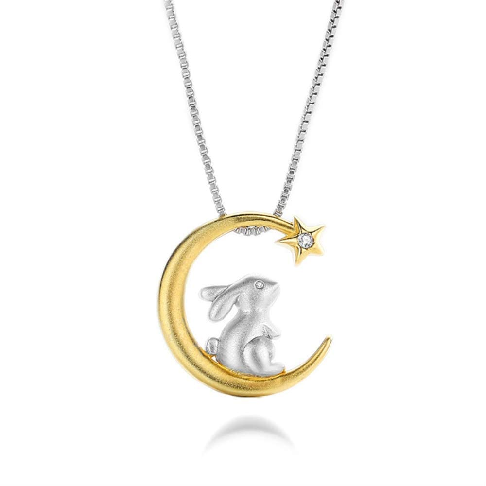 Women Fashion Ranking TOP5 Cute Bunny Pendant Charm Al sold out. Necklaces 925 Sterling Si