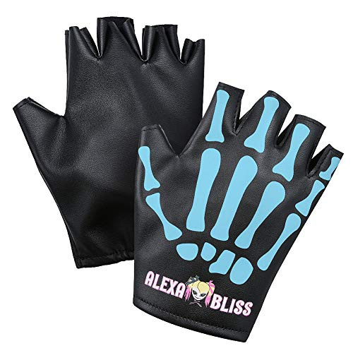 WWE Authentic Wear Alexa Bliss Little Miss Bliss Blue Replica Gloves