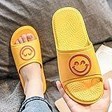 LLGG Ducha Zapatillas Antideslizantes,Zapatillas de Fondo Blando de Deslizamiento, Sandalias de Desgaste de Dibujos Animados-Amarillo_40/41,Zapatillas cómodas portátiles