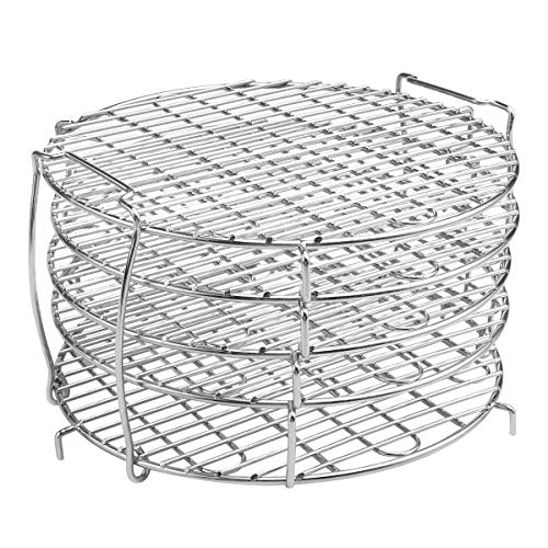 Purchase VOIMAKAS Food Dehydrator Stand, 304 Stainless Steel Five Stackable Layers Grill Racks Acces...