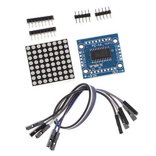 F Fityle MAX7219 Arduino用8x8ドットマトリクスLEDディスプレイモジュールMCU制御DIYキット