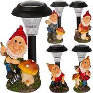 Solar Powered Garden Gnome Set