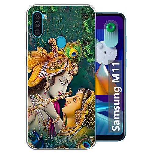 Fashionury Krishna Designer Soft Back Cover Case Compatible for Samsung Galaxy M11