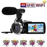Videokamera 4K Camcorder Full HD 30MP WiFi-Konnektivität Videokamera mit Mikrofon