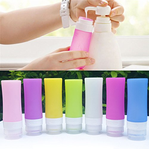 bodhi2000silicona viajes botellas Squeezable recargables a prueba de fugas de viaje recipientes para champú, acondicionador, loción, artículos de tocador verde verde 60 ml