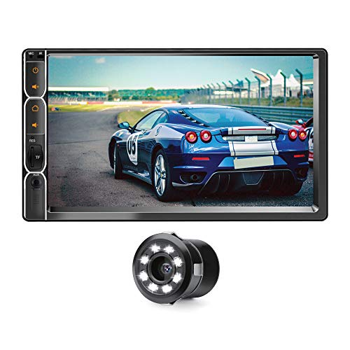 """myTVS 6.2"""" Car Touch Screen Double Din Multimedia Player Full HD/MP3/MP5/USB Stereo & Mirror Link with Dual Display Support with 8 LED Night Vision Rear View Parking Camera for All Cars"""