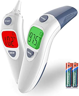 Besyoyo Baby Clinical Ear and Forehead Thermometer, Infrared Digital Thermometer,Fast and Accurate Thermometer with Fever Alarm for Kids & Adults(Included Battery)