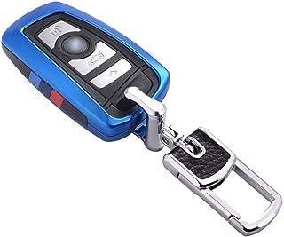 Kwak's - Funda para llave de coche compatible con BMW 1 serie 3 Serie 4 Serie 5 Serie 6 Serie 7 X3 X4 M5 M6 GT3 GT5 Smart Control Key Fob Cover Holder sin llave