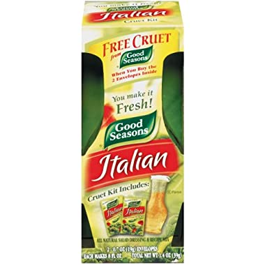Good Seasons Italian Dressing Mix, 2 Packages with Cruet, 1.4 Oz. Net
