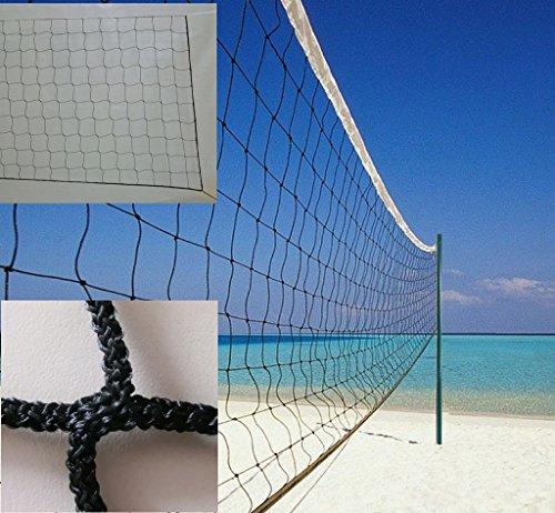 Redes Deportivas On Line Red Voley Playa o Voleibol Modelo Sencilla. Polipropileno Sin Nudos 3 mm ø. Sin Cinta Perimetral. Medidas Reglamentarias