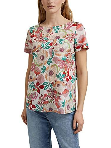 ESPRIT Kurzarm-Bluse mit Blumen-Print