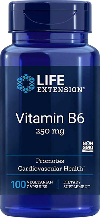 割合櫛ハム海外直送品Vitamin B6, 250 mg, 100 Vcaps by Life Extension