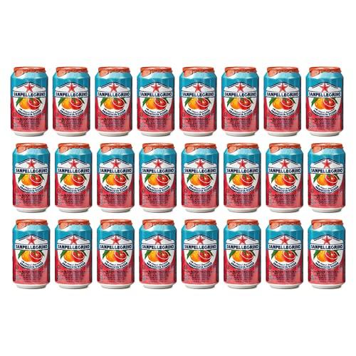San Pellegrino Sparkling Aranciata Rossa Blood Orange Multipack (24 cans)