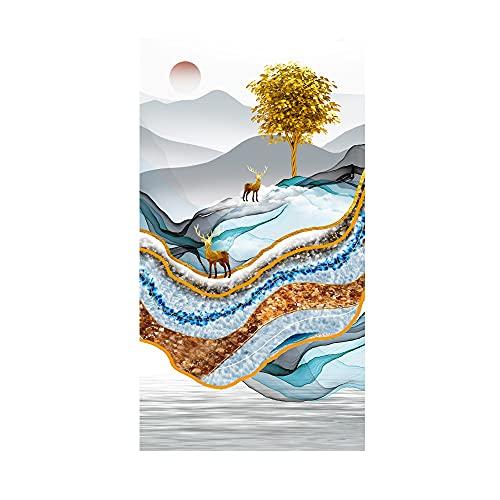 DIY Kit de Pintura Diamante 5D Taladro Completo Árbol de la fortuna Cristal Rhinestone Diamond Painting Large Full Drill Adulto Bordado Punto de Cruz Art Home Salón Decor de Pared 30x60cm