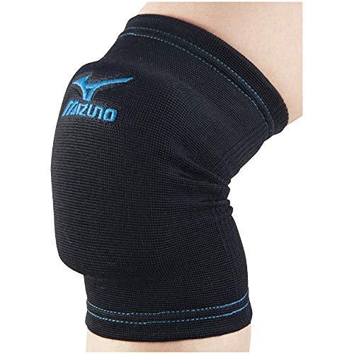 『MIZUNO(ミズノ) バレーボール ジュニア用 膝 サポーター (2個セット) V2MY7001 ブラック×ターコイズ F フリーサイズ』のトップ画像