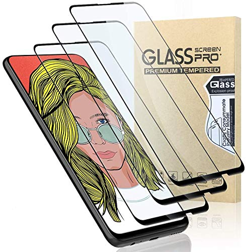GeeRic Protector de Pantalla Compatible para Huawei P Smart Z,3 Piezas HD Clear Cristal Anti-Arañazos Alta Definicion Cobertura Completa 9H,Vidrio Templado Compatible con Huawei P Smart Z