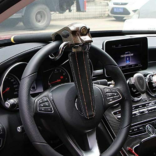 MASO High-end Steering Wheel Lock Anti Cut Saw Rust with 3 keys for SUV Heavy Duty Vehicle Car