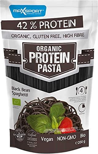 Maxsport Nutrition 42% Protein Organic Bio Glutenfrei High Fibre Protein Pasta - Black Bean Spaghetti, 3 Pack - 3x200g