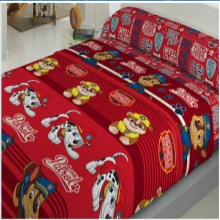 Juego de sábanas coralina paw patrol para cama de 90