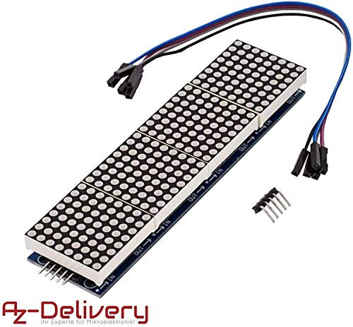 AZDelivery MAX7219 8x32 4 in 1 Dot Matrix LED Anzeigemodul kompatibel mit Arduino inklusive E-Book!
