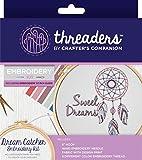 Threaders Gato Kit de Bordado Algodón 18.5 x 16 x 2 cm Multi, Multicolor
