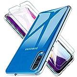 KEEPXYZ Funda para Samsung Galaxy A30s A50 A50s Silicona Transparente TPU + 2 Pcs Protector de Pantalla para Samsung A30s A50 A50s Cristal Templado, Vidrio Templado para Samsung A30s A50 A50s