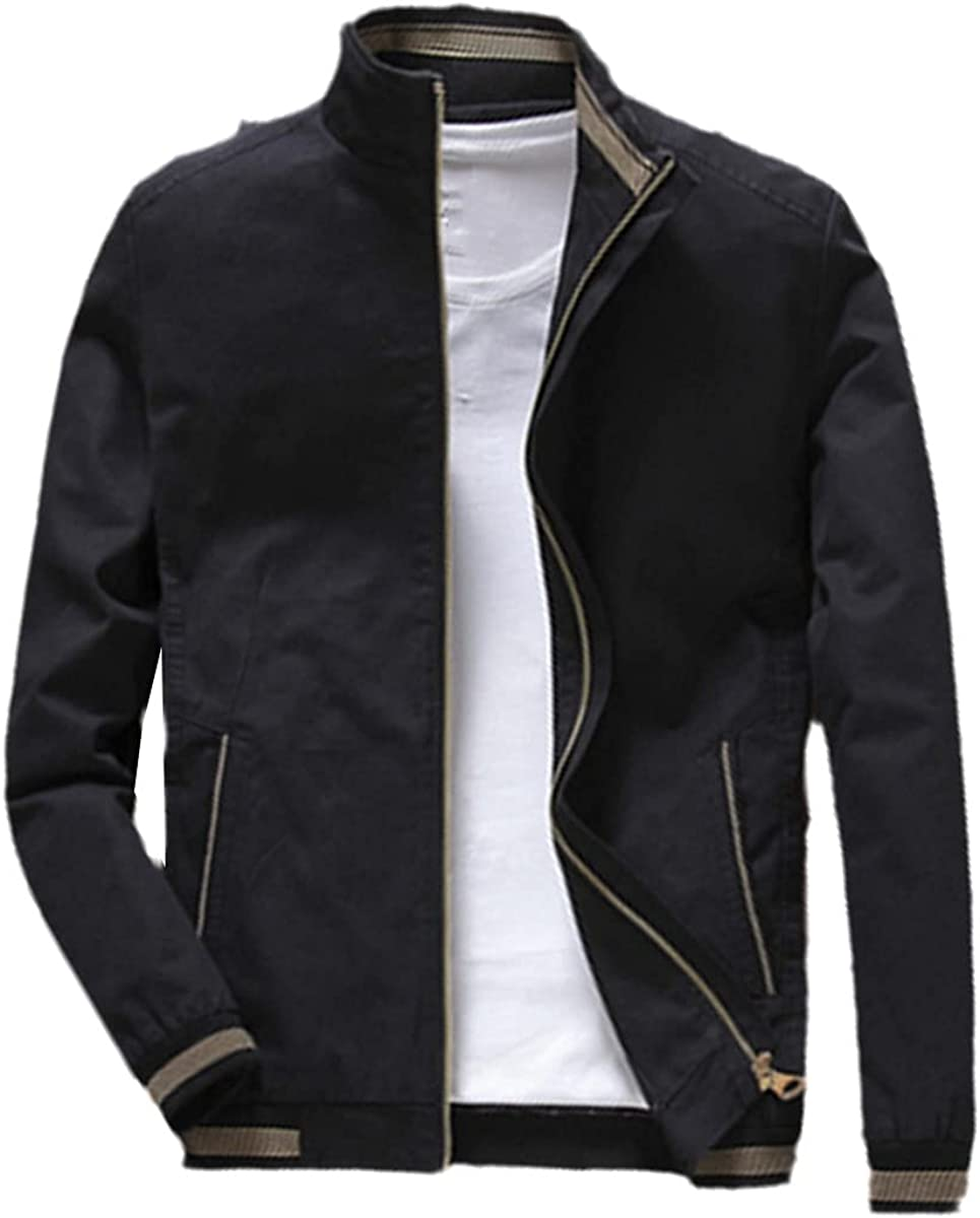 Spring And Autumn Men's Bomber Jacket Casual Outerwear Stand Collar Jacket Baseball Slim Jacket