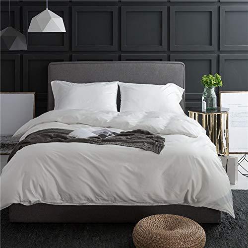 YuanBo Wo Large Duvet Cover Bed Sheet Pillow Case Simple Pure Cotton Bedding Long Staple Cotton High Density Four Piece Set (noble White) (Size : 1.2m)