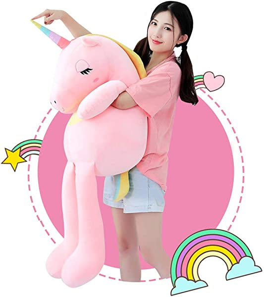 Sofipal Large Unicorn Stuffed Animal Toys Giant Soft Pink Unicorn Plush Pillow Gifts For Kids Birthday Valentines Christmas 43 3