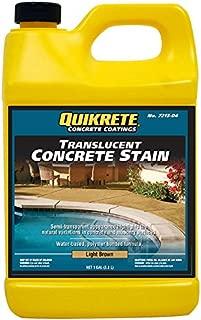 Quikrete Translucent Concrete Stain Light Brown gal