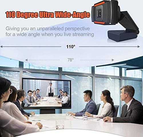Webcam PC 1080P Full HD con Micrófono Estéreo, Portátil Cámara Web USB 2.0 Reducción de Ruido,Web CAM de Enfoque Fijo… 6
