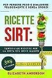 RICETTE SIRT: tantissime ricette per la dieta del gene magro! Per perdere peso e dimagrire velocemente senza sforzi. 3kg in 7 giorni.