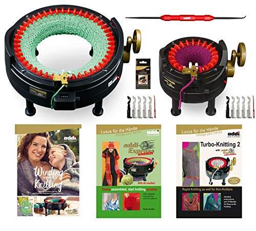I Want IT All - MEGA PRO Set - Two addi Knitting Machines with Pattern Books and Accessories