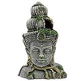 AERVEAL Aplicaciones Aplicar Decoraciones Del Tanque de Peces Bodhisattva Estatua Adornos de Acuario 28.5X14X19.5Cm