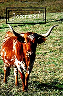 Texas Longhorn Cattle Steer Cow Lover Journal for Daily Thoughts Notebook Cute Diary for Outdoor People: Gratitude inspiration & Brainstorming Blank Lined Paper Book (Journal has a matching Planner)