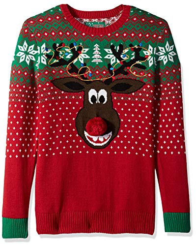 Mens Reindeer Christmas Sweater