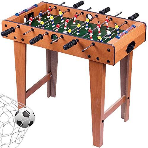 I IHAYNER Foosball Table Portable Mini Tabletop Billiard Soccer Competition Sports 27' Home Game Room Toys Mini Soccer Table