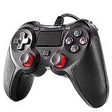 Diestord PS4コントローラー 有線 PC USB 有線ゲームパッド 人体工学 2重振動 PS3 PC PS4対応