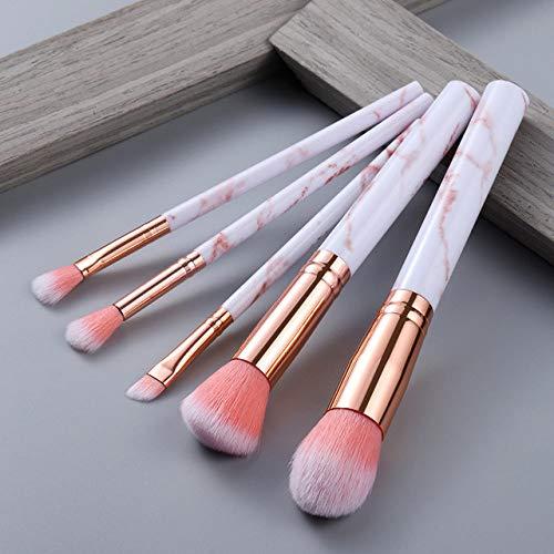 MLYJC Pinceaux Maquillage kit Ensemble de pinceaux de maquillage Brosses à outils Multifonctionnel Pinceau de maquillage Correcteur Fondation de fard à paupières, 5pcs rose