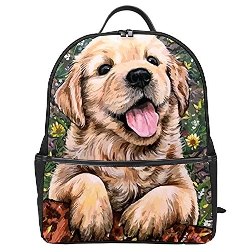 Mochila escolar Labrador Cachorro Sonrisa Perro Bolsa de Viaje Mochila para Mujeres Adolescentes Niñas Mochila Mochila Mochila Mochila para Portátil para el Trabajo