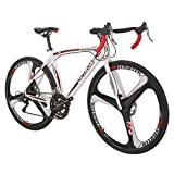 3. Outroad Road Bike 700c 14 Speed 26 inch 3 Spoke Commuter Bicycle (Black and White)