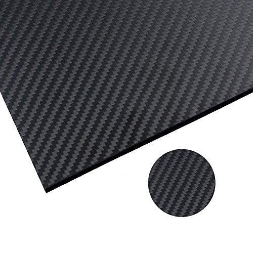 Arris 200X300X2.5MM 100% 3K Pure Carbon Fiber Plate Panel Laminate Sheet 2.5mm Thickness (Matt Surface)