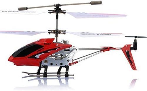 SQSAY Hélicoptère RC télécomhommedé Infrarouge Channel avec Contrôle de stabilité gyroscopique, Conception de vol spéciale en intérieur, Contrôleur de précision à 3 Directions