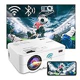 Proyector WiFi Bluetooth, Artlii Enjoy2 6500 Lúmenes Mini Proyector Portatil Soporta 1080p Full HD, 300' Proyector Cine en Casa para Smartphone/ Android/ iOS