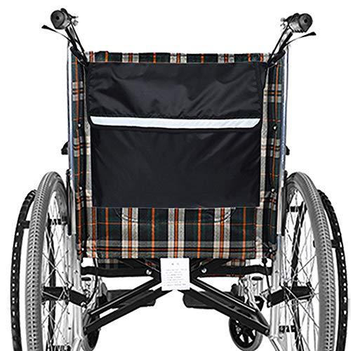 MOPOIN Rollstuhltasche Hinten, Wasserdicht Oxford Rollstuhl Tasche Groß Schwarz Rollstuhl Rucksack Aufbewahrungstasche mit reflektierenden Streifen für Rollstuhl Griffe