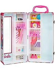 Theo Klein 5801 Barbie kastkoffer kledingstangen en vakken, speelgoed voor kinderen vanaf 3 jaar, incl. accessoires, multicolor
